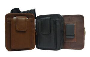 Leather-Holster-Waist-Belt-Clip-Handgun-Pouch-Right-Left-Hand-Pistol-Holder-CCW