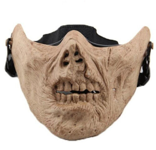 Airsoft Paintball Mask Zombie Skeleton Skull Bone Half Face Cosplay Mask