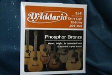 D'Addario EJ41 PB 12 String Guitar Strings X Lt. Ga.