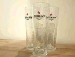 3-HEINEKEN-HALF-PINT-GLASSES-NEW-1-2-PINT-GLASSES