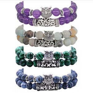 Tibetan-Silver-Owl-Bracelet-Set-Natural-Stones-Crystals-Bangle-Set-Women-Jewe-AL