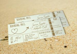 Boarding Pass Wedding Invitations.Details About 25 Vintage Pastel Destination Boarding Pass Ticket Wedding Invitations Invites