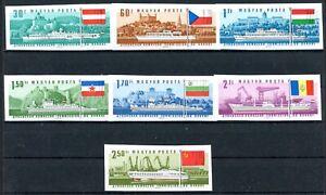 Ungarn MiNr. 2323-29 B postfrisch MNH Donaukommission (Q11797