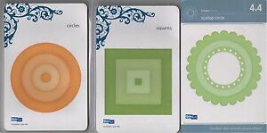 3-Lifestyle-Crafts-QUICKUTZ-CUT-Dies-SCALLOP-CIRCLE-SQUARES-NEW-FREE-SHIP-GIFT