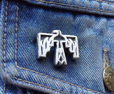 Native American Thunder Bird Design Pewter Pin Badge