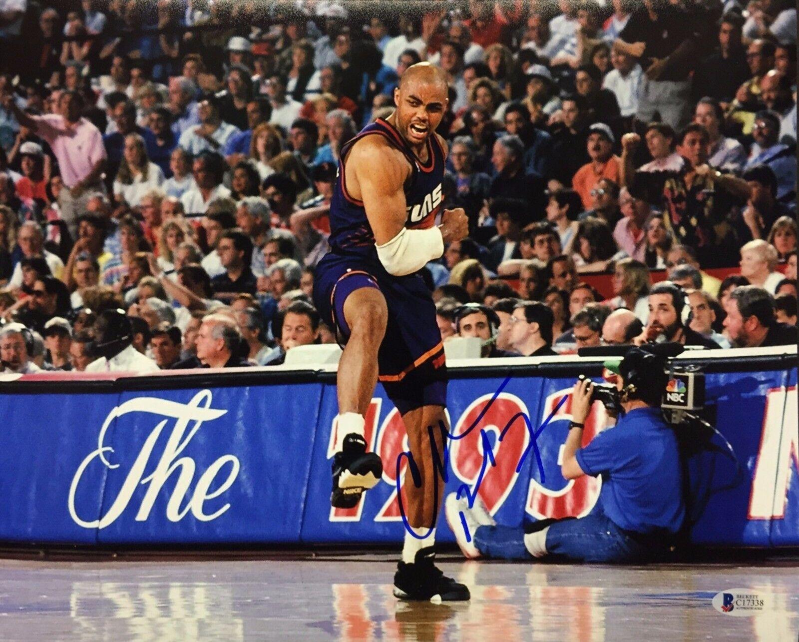 Charles Barkley Signed 11x14 Basketball Photo *Phoenix Suns Beckett BAS C17338