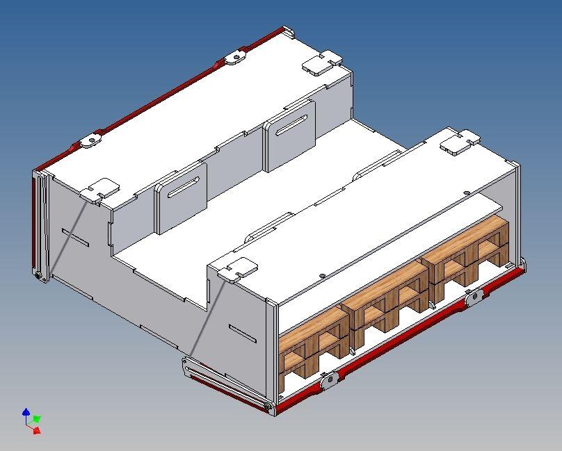 Pkb190v-palettenkombistaubox (pieno) per TAMIYA Trailer - 190 L X 65 H X 180 B