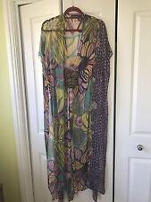 Antik Batik Silk Kaftan Dress Size S M L