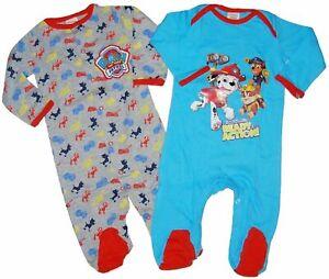 Baby-Boys-Paw-Patrol-2Pack-Bodysuits-Babygrow-Sleepsuit-Pyjamas-Newborn-6Months