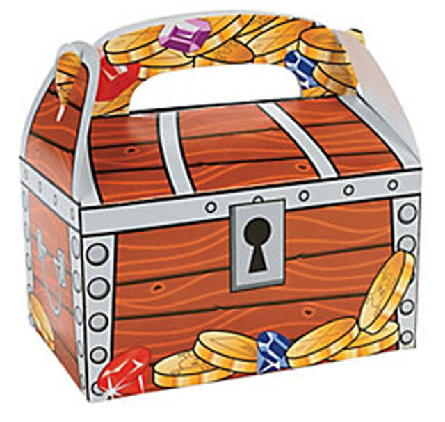 PIRATE PARTY Treasure Chest Treat Boxes Gift Favour Box Pack of 3 Free Postage