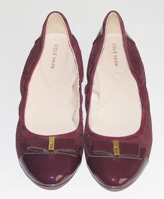 COLE HAAN~NWOB~$160.00~PATENT LEATHER CAP TOE *ELSIE BALLET II* FLAT SHOES~10.5