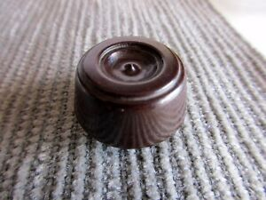 Vintage-Brown-Radio-Knob-Genuine-Round-Ham-Tube-Radio-Receiver-1-3-8-034-D-1920-039-s
