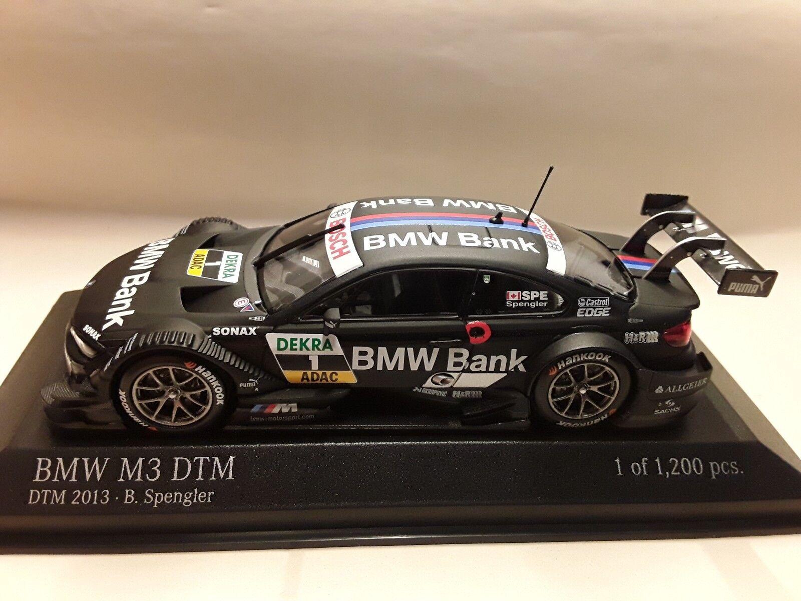 Bmw m3 dtm  B. Spengler  DTM 2013 Team Boulette  1 43 Minichamps 410132201