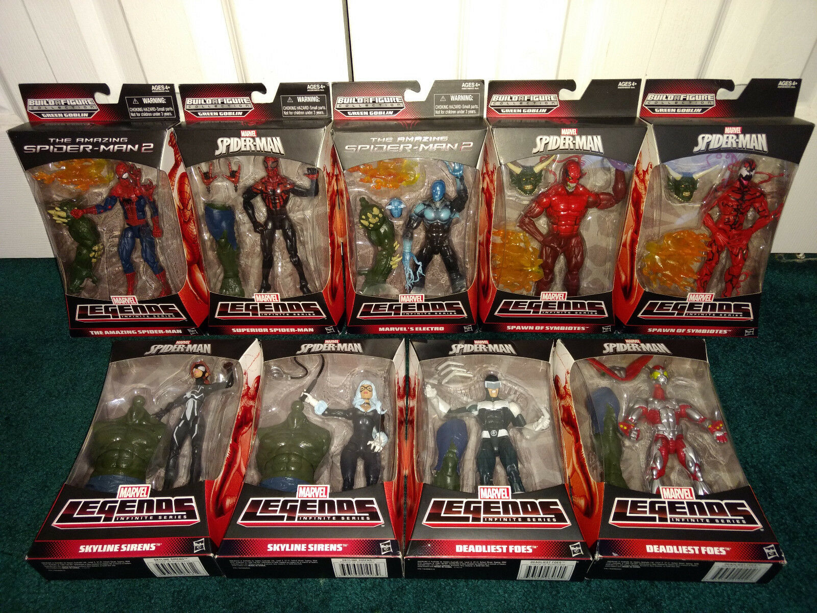 Grün Goblin BAF Marvel Legends ALL MISP  Spiderman Toxin Carnage Electro Cat +