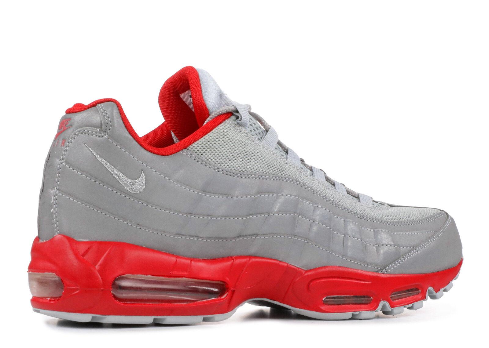 new style 025a5 47489 ... Nike Air Max 95 Metallic Metallic Metallic Silver Sport Red Sz 11  609048-029 2010 ...