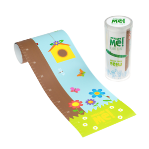 Forest Friends Measure Me Children/'s Roll-Up Nursery Growth Height Chart Owls