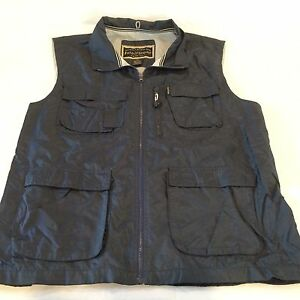 Men s field stream navy blue mesh lined fishing vest for Field and stream fishing shirts