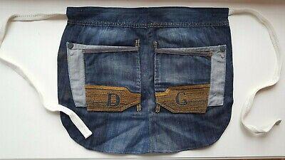 Bellissimo D&g Dolce & Gabbana Firmati Originali Grembiule Realizzato In Usato Vintage Jeans Unico!-mostra Il Titolo Originale Ultimo Stile