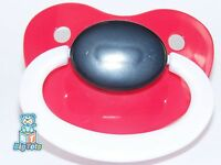 Adult Baby Large Adult Silicone Pacifier Red/blk/wht Big Tots