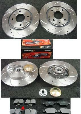 PEUGEOT 307 SW ESTATE 02-08 FRONT /& REAR BRAKE DISCS /& PADS CHECK CHOICE PARTS
