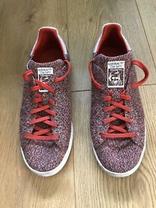 Adidas-Stan-Smith-Primeknit-S80068-Rosso-Multicolore