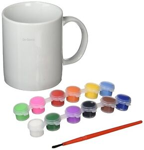Paint Your Own Mug Set Craft Kit Oven Baked Wash Off New