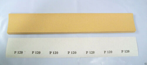 "Lot of 500 17-1//2/"" Clip-On Body File Sheets Sandpaper 120 Grit"