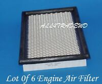 Lot Of 6 Engine Air Filter A23592 Sa3592 Fits: Ford Lincoln Mazda & Mercury
