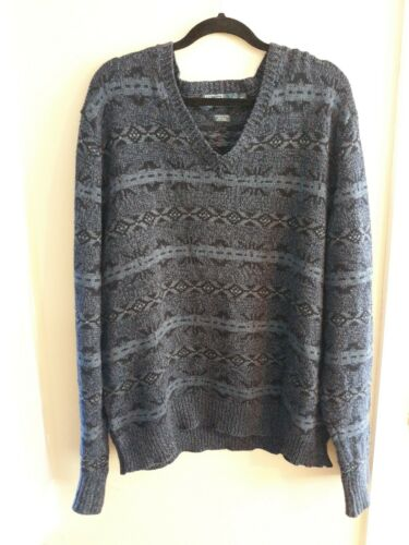 Men Polo Ralph Lauren Navy Fair Isle Sweater Xl