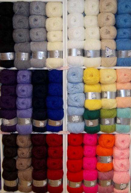 Woolyhippo DK Soft Acrylic Nylon Baby Yarn 100g Double Knitting Crochet Wool