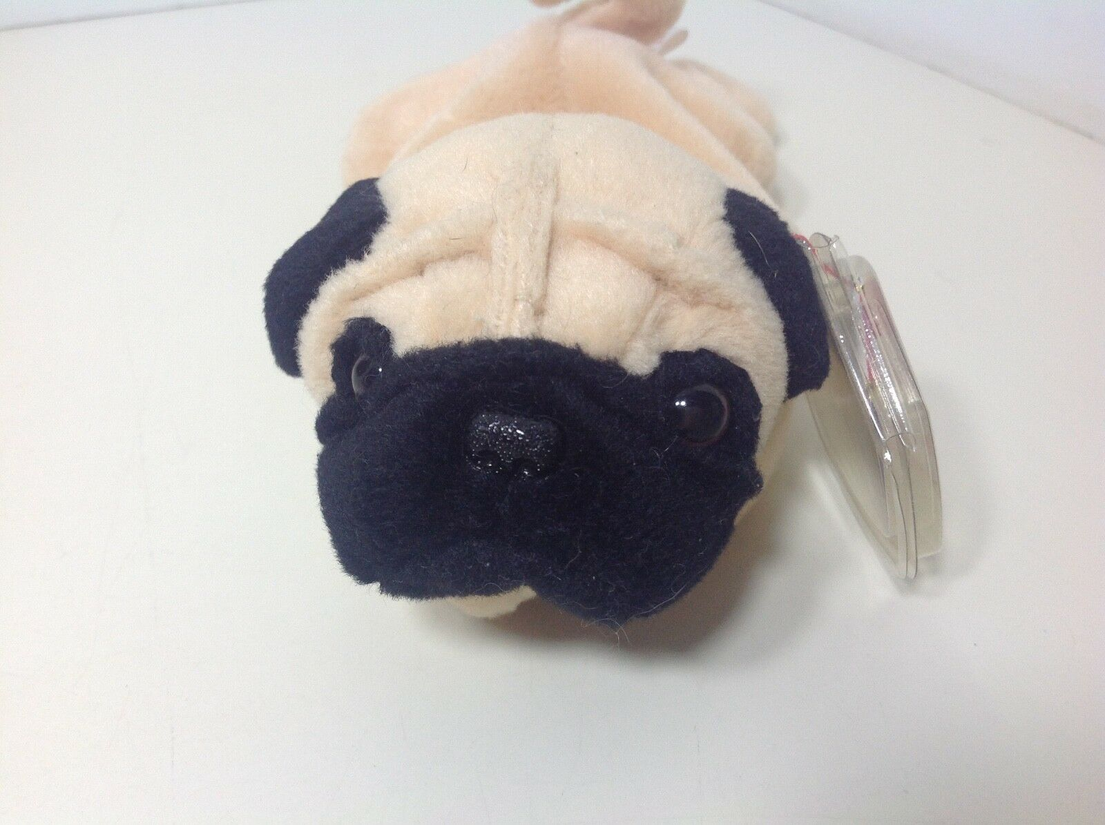 Retired Ty Beanie Baby MWMT PUGSLY Pug Dog Puppy PVC Pellets