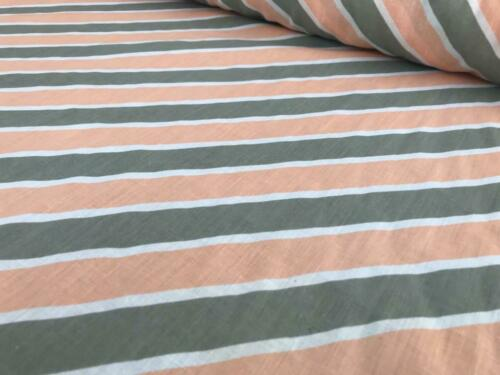 SHEETING FABRIC COTTON BLEND 3 MTRS WIDE DIAGONAL STRIPES MATERIAL BACKING FABRC