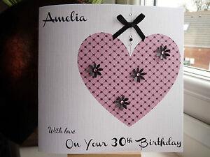 Handmade-Personalised-Female-Girls-Birthday-Card-16th-18th-21st-30th-40th-50th