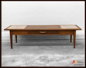 60s Mid Century Modern Lane Style Coffee Table W Drawer