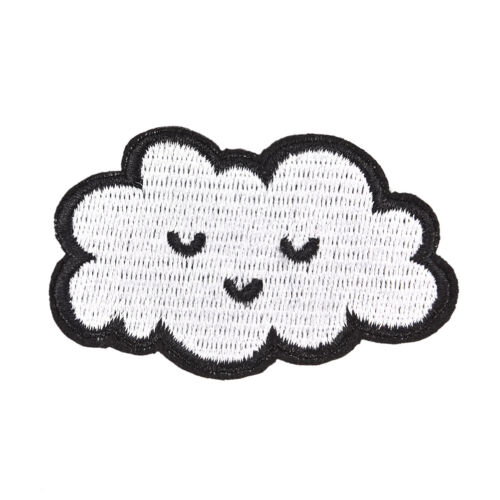 Cloud patches for clothing iron on embroidered sew applique cute DIY accessoDIU