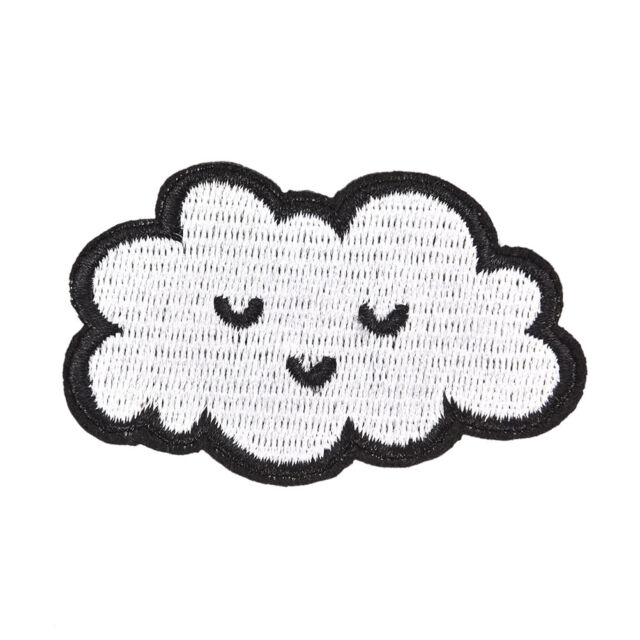 cloud patches for clothing iron on embroidered sew applique DIY'accessories  EB
