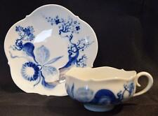 Meissen Finest Porcelain Cup & Saucer~ Blue Orchid~#824001~Unused~German~Rare~