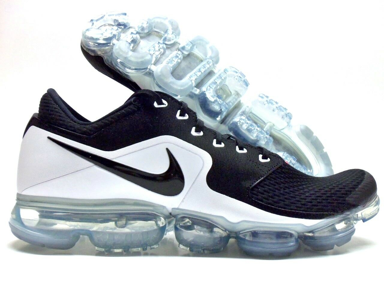 NIKE AIR VAPORMAX BLACK/WHITE-METALLIC SILVER SILVER SILVER SIZE MEN'S 12 [AH9046-003] 99458e