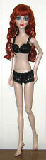 "NEW Ready2Wear Custom Black Lace Bra & Boxer Outfit Fit 18"" Evangeline Ghastly"