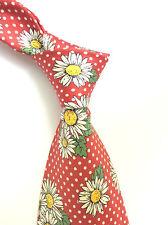 HUGO BOSS Luxus Krawatte TIE ORIGINAL SEIDE Rot Weiß Grün MARGARET