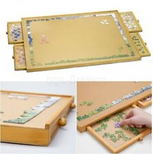 Jigsaw Puzzle Table Organizer Jumbo Size Wooden Plateau Storage System Drawers
