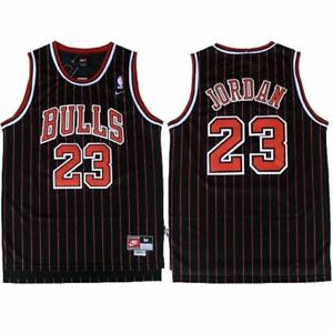 new styles 8d533 f1778 Details about Michael Jordan #23 Chicago Bulls Men's Nike Black Stripe  Retro Throwback Jersey