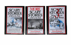 3-Book-Set-SCARY-STORIES-to-Tell-in-the-Dark-1-2-amp-3-by-Alvin-Schwartz-Children