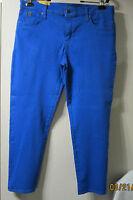 2nd.yoga Hard To Find Sz.33 4 Way Stretch Blue Hi Rise Skinny Jeans