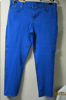 2nd.yoga Hard To Find Sz.33 4 Way Stretch Blue Hi Rise Skinny Jeans