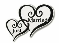 Just Married Heart Car Magnet, New, Free Shipping