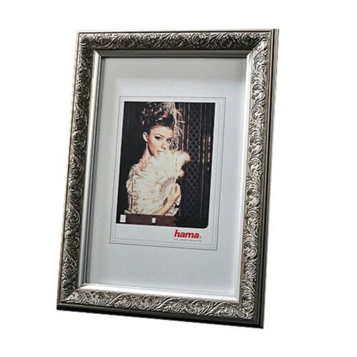 """Portrait cadre /""""ELBA/"""" argent 13x18cm 15x20cm 20x30cm 30x40cm cadre photo Hama"""