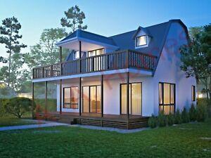 Rosemei-Farmhouse-2-3-bedroom-Double-Storey-168m-Steel-Frame-Barn-style-Home