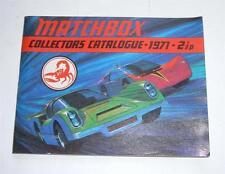 Matchbox Toys, UK Collectors Catalogue Dated 1971, - Superb