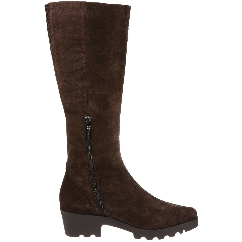 NEU Calvin Klein Stiefel Größe 9.5 Damenschuhe Braun Suede Knee High Zip Comfort Tread